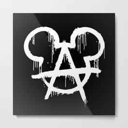 Anarchy Mouse Metal Print