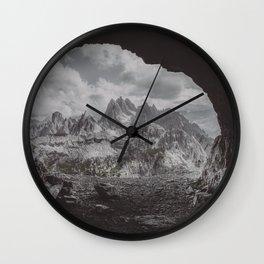 Fog in the Mountain Wall Clock