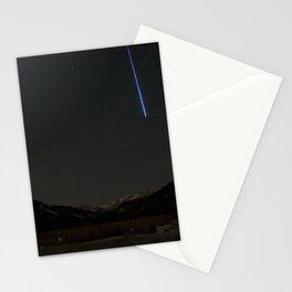 Watercolor Nightscape, Moraine Park 03, RMNP, Colorado, Meteor Streak Stationery Cards