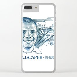 GAGARIN SPACE ODYSSEY Clear iPhone Case