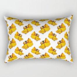 Baile Folklorico Vestido Mexicano Amarillo Rectangular Pillow