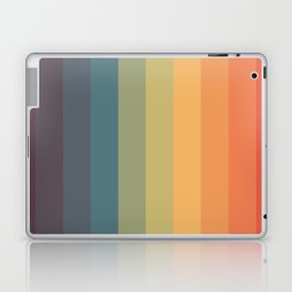 Colorful Retro Striped Rainbow Laptop & iPad Skin