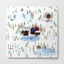 Nordic Winterscape Metal Print