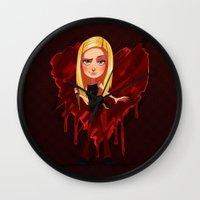 buffy Wall Clocks featuring Buffy the Heart Slayer by Isaiah K. Stephens