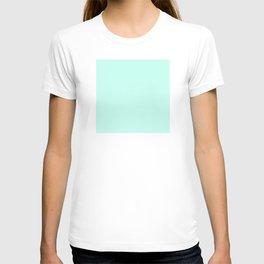 Pastel Mint - Sea Foam - Light Blue Green - Solid Color T-shirt