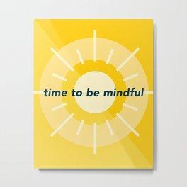 Mindfulness 'o' Clock Metal Print