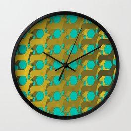 """Dog Eat Dog Pattern"" Wall Clock"