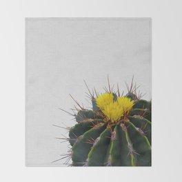Cactus Flower Throw Blanket