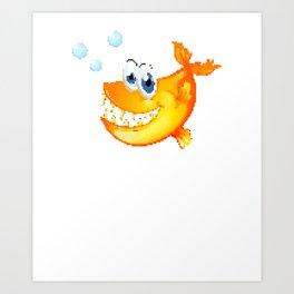 Piranha | 8 Bit Pixel Art  Art Print