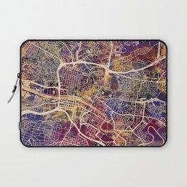 Glasgow City Scotland Street Map Laptop Sleeve