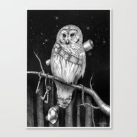 hedwig Canvas Prints featuring Hedwig by Tim Van Den Eynde