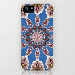 Spring blossoms, Floral mandala-style iPhone Case