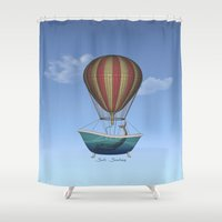 whales Shower Curtains featuring Whales by Galen Valle
