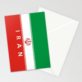 Iran country flag name text Stationery Cards