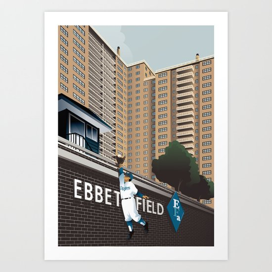 Ther Used to be a Ballpark Here Art Print