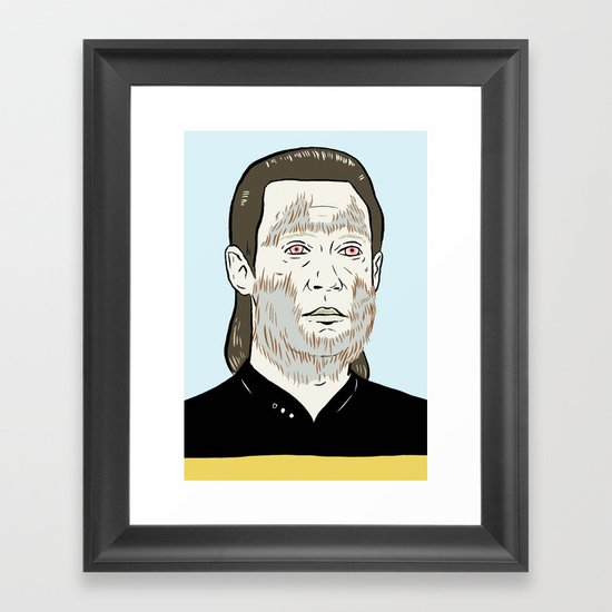 Data Wolf Framed Art Print