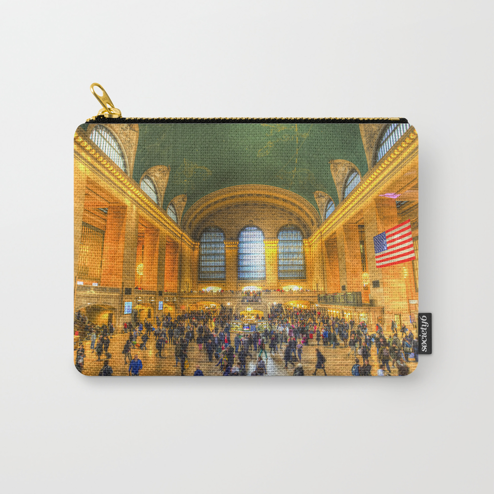 Grand Central Station New York Carry-all Pouch by Davidpyatt CAP8321773