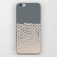 Half Knit Ombre Nat iPhone Skin