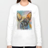 sphynx Long Sleeve T-shirts featuring Sphynx by Michael Creese
