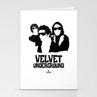 velvet underground Stationery Cards featuring VELVET UNDERGROUND W by zzglam