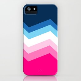 Blue to Pink Gradient in Mid-Century retro style iPhone Case