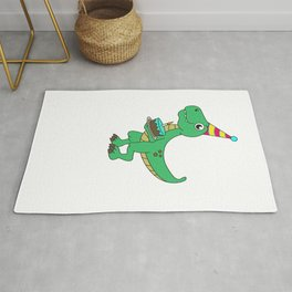 Best Gift for a 4yrs. old Dinosaur Lovers Tshirt Design Rug
