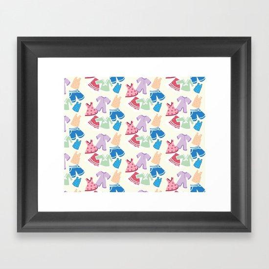Summer clothes Framed Art Print