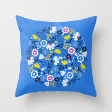 Fresh Flora Throw Pillow