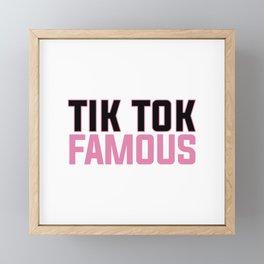 TIK TOK FAMOUS FUNNY Framed Mini Art Print