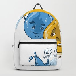 Oil and water Meme Backpack