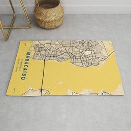 Maracaibo Yellow City Map Rug