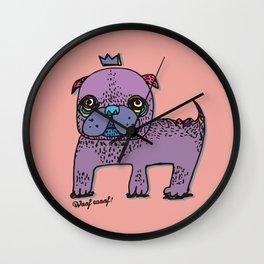 PUG KING Wall Clock