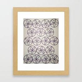 Black and White Flower Pattern Framed Art Print