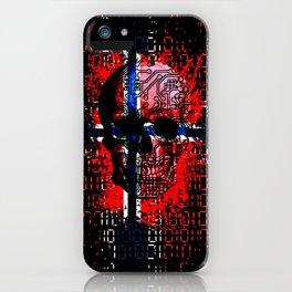 Skull circuit (norway-flag) iPhone Case