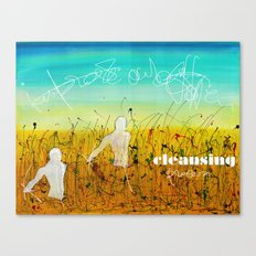 Cleansing process Canvas Print