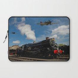 Hurricane and Steam Train Laptop Sleeve