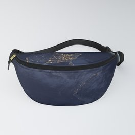 Earth At Night Fanny Pack