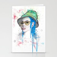 fear and loathing Stationery Cards featuring Fear and Loathing by Becca Douglas