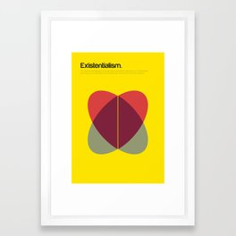 Existentialism Framed Art Print