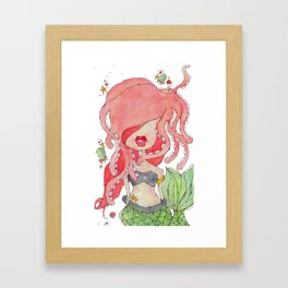 suki -- part of the merm story. Framed Art Print