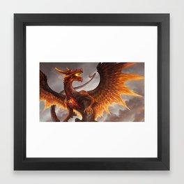 Red Crystal Dragon Framed Art Print