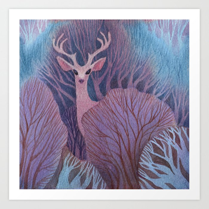 To Dream of Deer Art Print