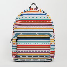 Multicolored lines and dots Backpack