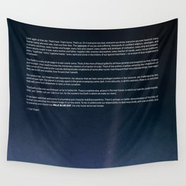 Pale Blue Dot — Voyager 1 (2020 rev.) Wall Tapestry