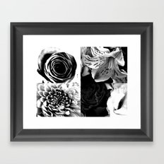 Delicate flower abstract Framed Art Print