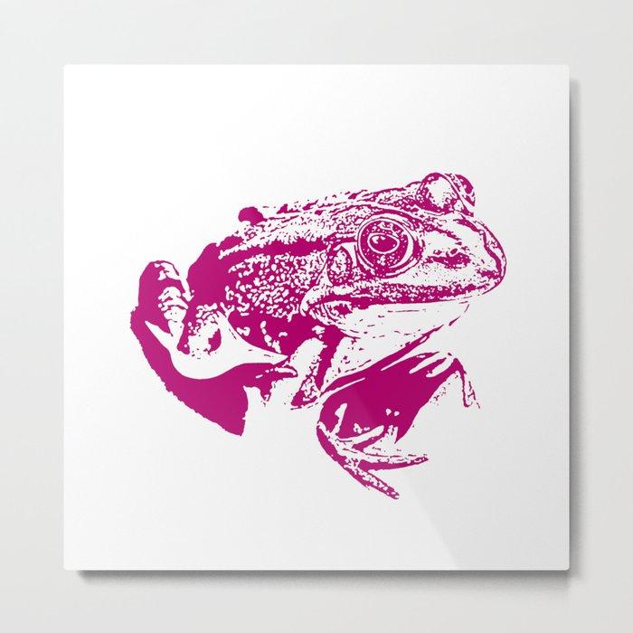 pink frog IV Metal Print