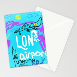 LON LONDON airports code Stationery Cards