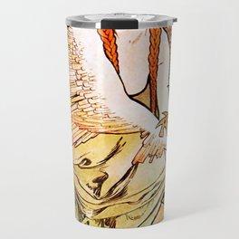 "Alphonse Mucha ""Chansons d'Aïeules (Grandmother's Songs)"" Travel Mug"