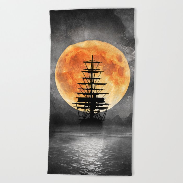 From the moon Beach Towel