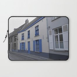 Houses in Bruges with blue Laptop Sleeve